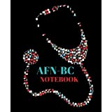 Afn-BC Notebook: Advanced Forensic Nursing-Board Certified Gift 120 Pages Ruled with Stethoscope Cover