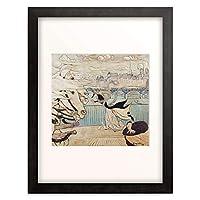 ルイ・アンクタン Anquetin, Louis 「Der Windstos auf der Seinebrucke. 1889.」 額装アート作品