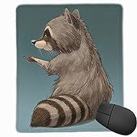 マウスパッド キュート洗熊プリント 光学式マウス対応 おしゃれ 滑り止め 防水 耐洗い表面 オフィス用 家庭用 30*25CM