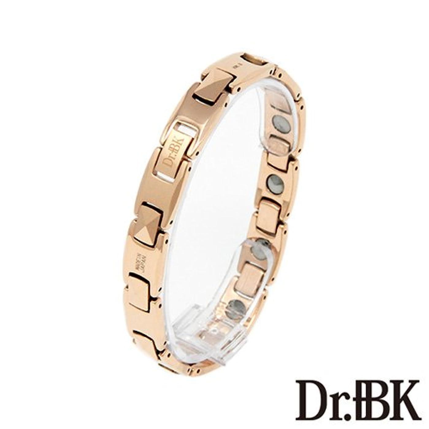 侵入する固体若さDr.+BK ゲルマニウムブレスレットBT004TPW3 ピンクゴールド[女性] [Bracelet] - M Size