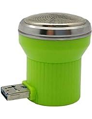 旅行用かみそり用ミニかみそりUSB携帯電話多機能ポータブル電気メンズかみそり(グリーン)