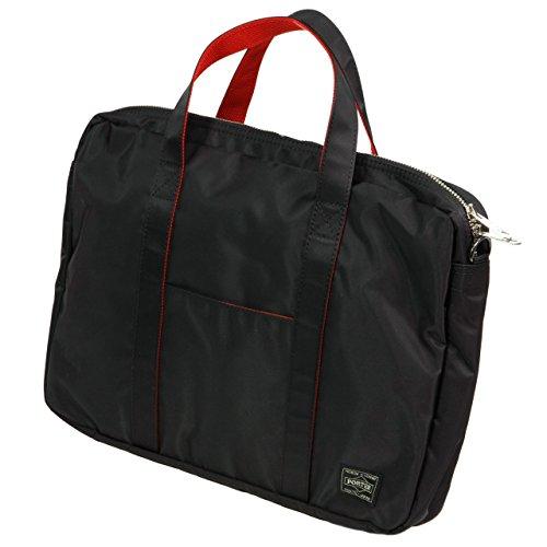 ポーターエルファイン(PORTER L-fine) PORTER×ILS共同企画 ブリーフケース Brief Case ブラック(裏地:レッド) Black(Backing:Red)