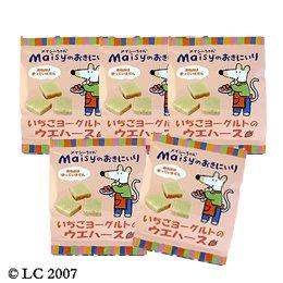 創健社 メイシーちゃん(TM)のおきにいり  いちごヨーグルトのウエハース 12個×5袋