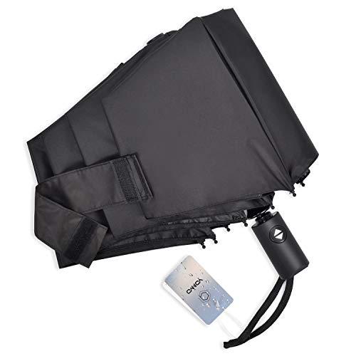 YONiMO 日傘 折りたたみ傘 自動開閉 UVカット 100%遮光 遮熱 8本骨 耐風 撥水 雨傘 日焼け防止 紫外線対策 シンプル 男女兼用 持ち運び便利 晴雨兼用 折り畳み傘 (ブラック)
