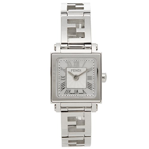 フェンディ 時計 FENDI F605024500 QUADRO MINI クアドロミニ レディース腕時計ウォッチ ホワイトパール/シルバー [並行輸入品]
