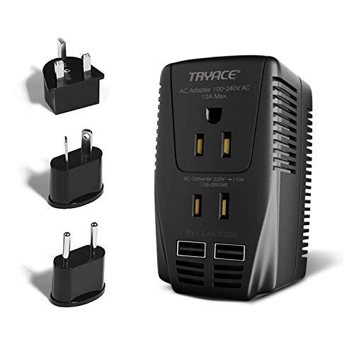 TRYACE 海外旅行用変圧器 2000Wハイパワー220...