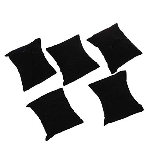 SODIAL(R)ベルベットのブレスレット、ウォッチ、ジュエリーのディスプレイ枕、ブラック
