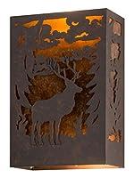 Meyda ティファニー 120788 鹿の壁取り付け用燭台 幅10インチ