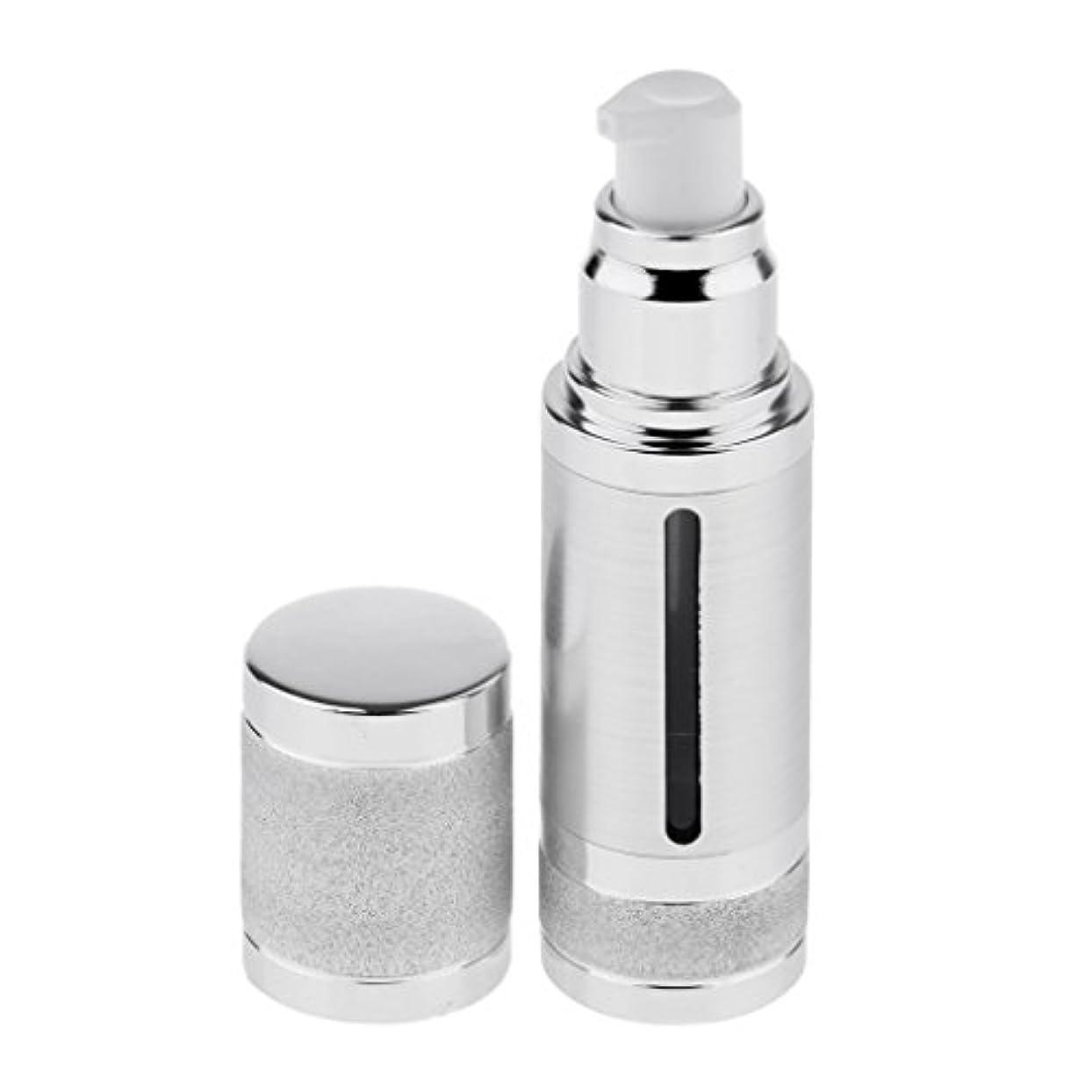 羊の服を着た狼暗殺する腹痛Fenteer ポンプボトル 空ボトル エアレスボトル 30ml 化粧品 詰め替え 容器 DIY 2色選べる - 銀