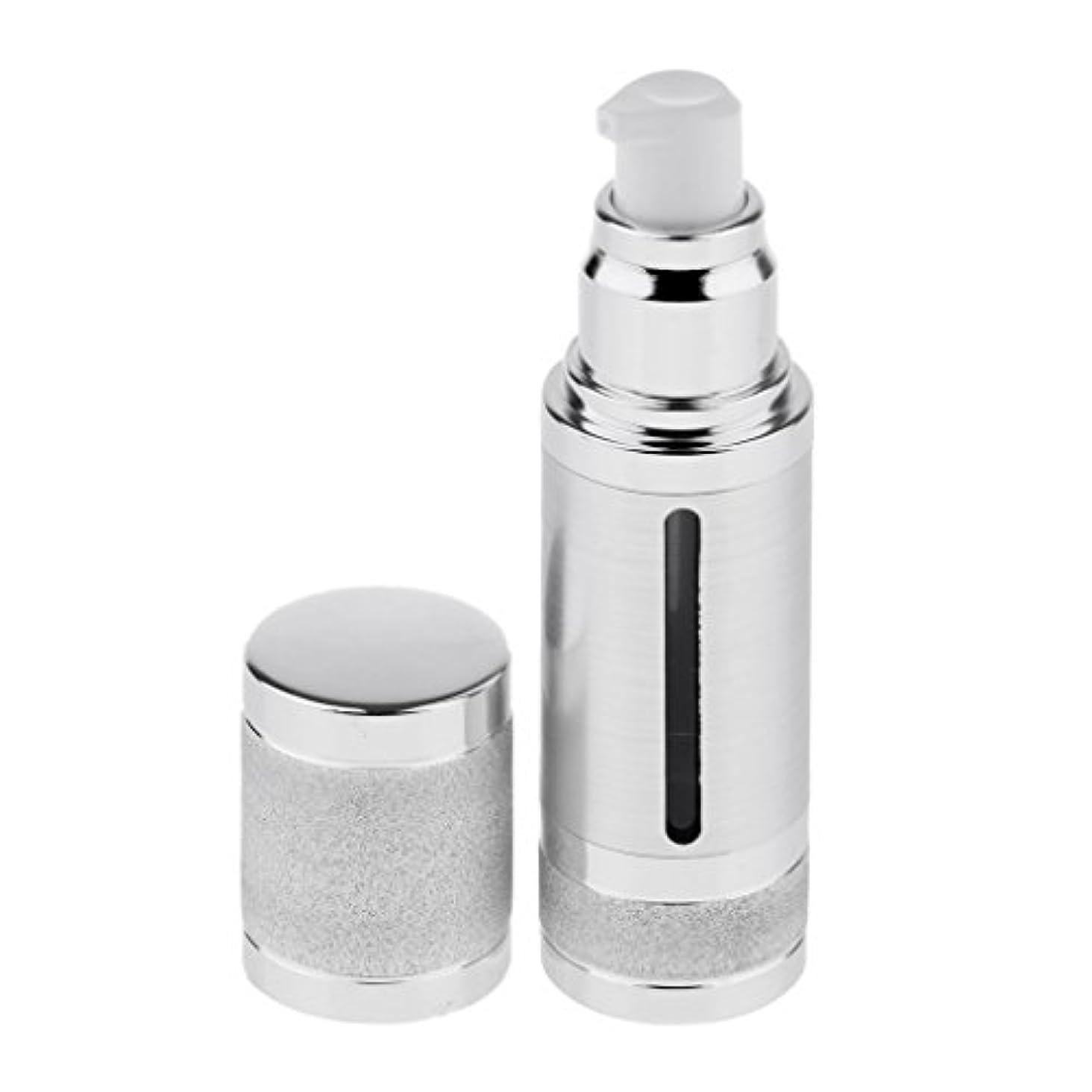 比類のない危険なお嬢Fenteer ポンプボトル 空ボトル エアレスボトル 30ml 化粧品 詰め替え 容器 DIY 2色選べる - 銀
