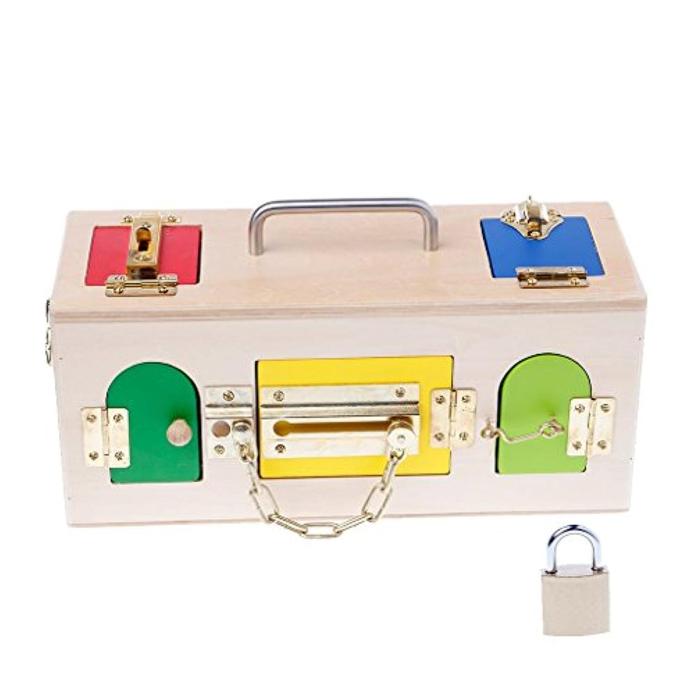 kalttoyi Montessoriカラフルロックボックス子供玩具、子供教育Preschoolトレーニングおもちゃ