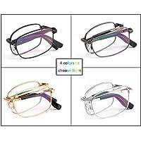 Comfortable Foldable Reading Glasses Anti-Blue Light Reading Glasses Fashion Color Changing Portable Resin Lens Beautiful (Color : Black, Size : +2.75)