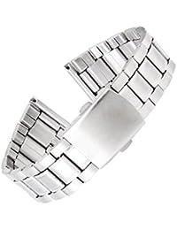 【ノーブランド品】時計バンド 交換ベルト ステンレス製 腕時計ストラップ 22mm  シルバー