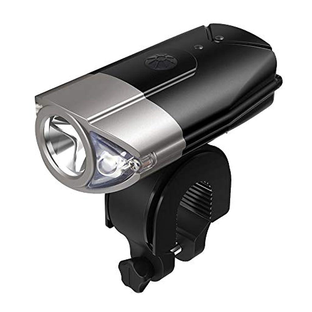 支配的真鍮割り当てるKTH USB自転車ライトセット充電式、ロード&マウンテンバイク用LEDヘッドライトコンビネーション、