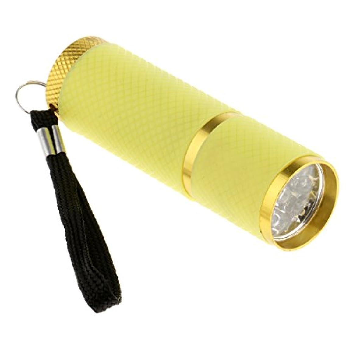 流用する地雷原拒絶Homyl ネイルドライヤー ミニ 9 LED  4.5V  ドライヤー 手と足 両方に使用 UV プロ ネイルサロン 家庭用 4色選べ - 黄