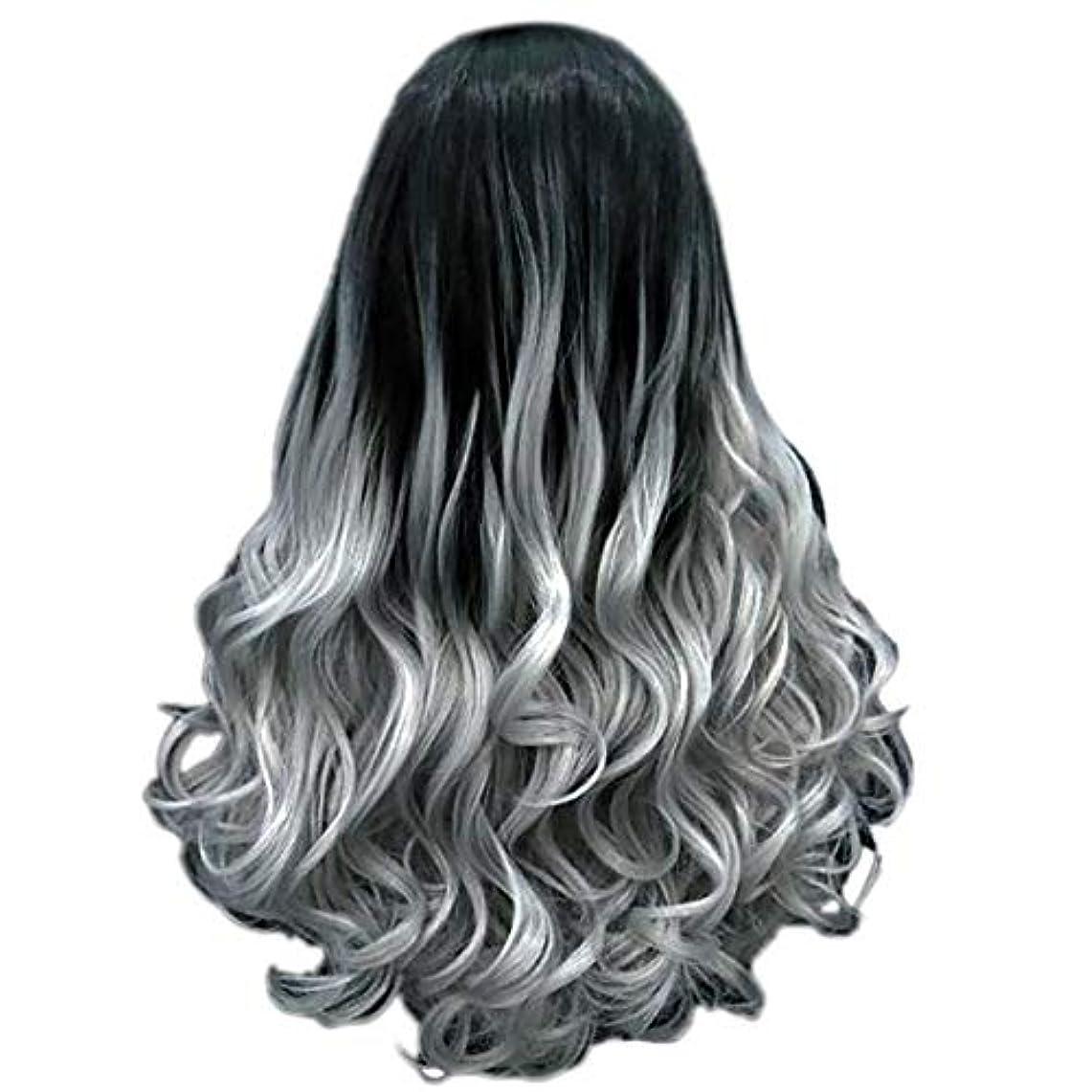 アンビエント膿瘍自宅で女性の長い巻き毛のファッションセクシーなかつら70 cmをかつら
