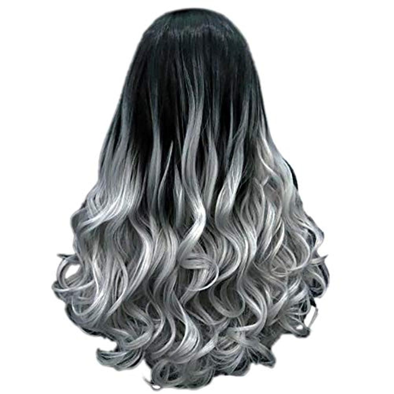 クレアフリルギャップ女性の長い巻き毛のファッションセクシーなかつら70 cmをかつら