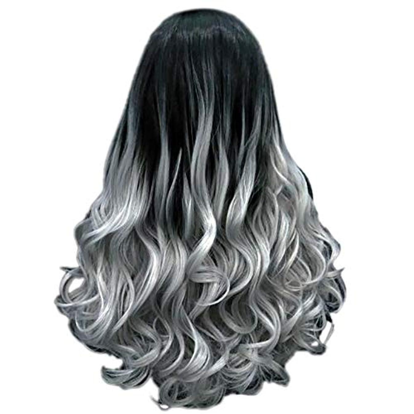 気を散らす略語流出女性の長い巻き毛のファッションセクシーなかつら70 cmをかつら
