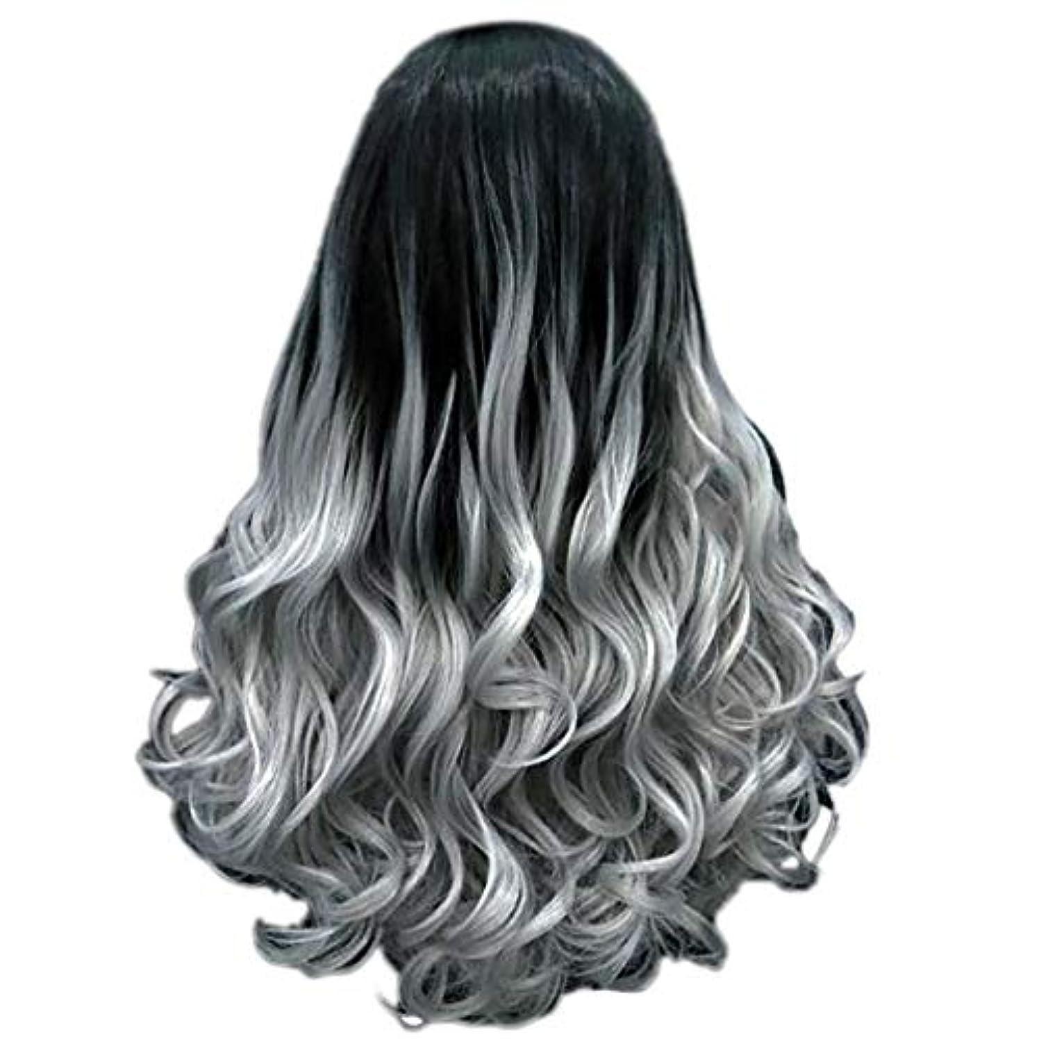 フレームワークミリメートル一般的に女性の長い巻き毛のファッションセクシーなかつら70 cmをかつら