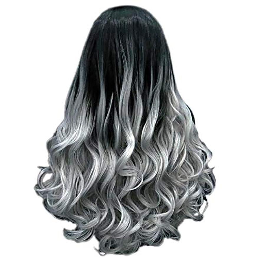政府市の花湿原女性の長い巻き毛のファッションセクシーなかつら70 cmをかつら