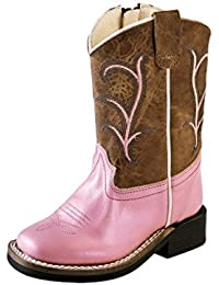 BSC1803 Wide Square Toe Old West Girls/' Western Boot