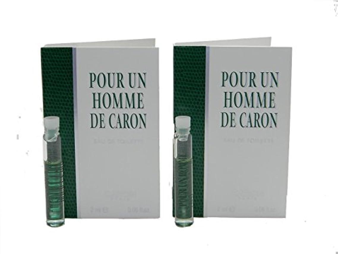 に勝る通りビジュアルPour Un Homme De Caron EDT Vial Sample [Lot of 2](プール アン オム ド キャロン オードトワレ)2x2ml [並行輸入品]