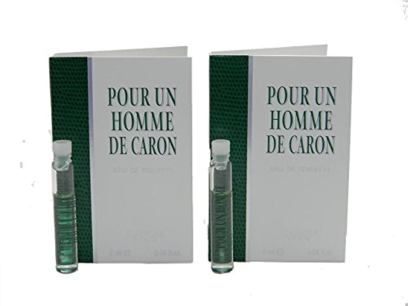 歩行者第四縮れたPour Un Homme De Caron EDT Vial Sample [Lot of 2](プール アン オム ド キャロン オードトワレ)2x2ml [並行輸入品]