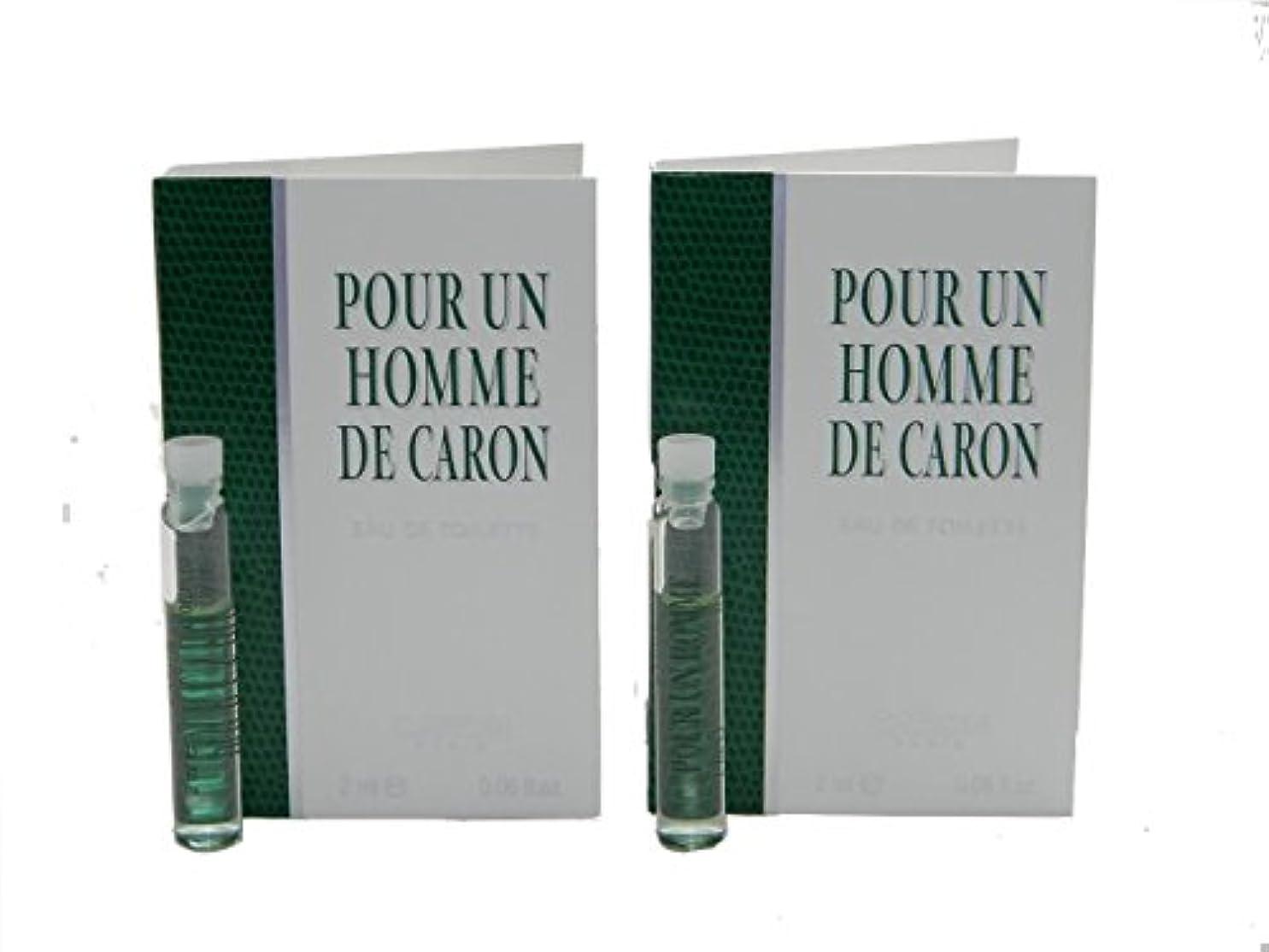誓い枯渇ボイコットPour Un Homme De Caron EDT Vial Sample [Lot of 2](プール アン オム ド キャロン オードトワレ)2x2ml [並行輸入品]
