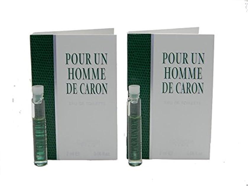 パウダー誰か幹Pour Un Homme De Caron EDT Vial Sample [Lot of 2](プール アン オム ド キャロン オードトワレ)2x2ml [並行輸入品]