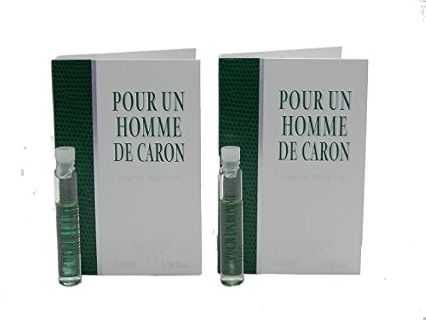 きちんとした思いつくポルノPour Un Homme De Caron EDT Vial Sample [Lot of 2](プール アン オム ド キャロン オードトワレ)2x2ml [並行輸入品]