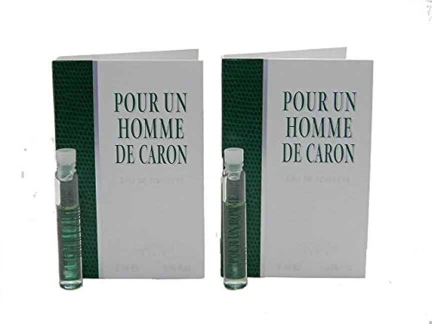 不愉快に成功する間違えたPour Un Homme De Caron EDT Vial Sample [Lot of 2](プール アン オム ド キャロン オードトワレ)2x2ml [並行輸入品]