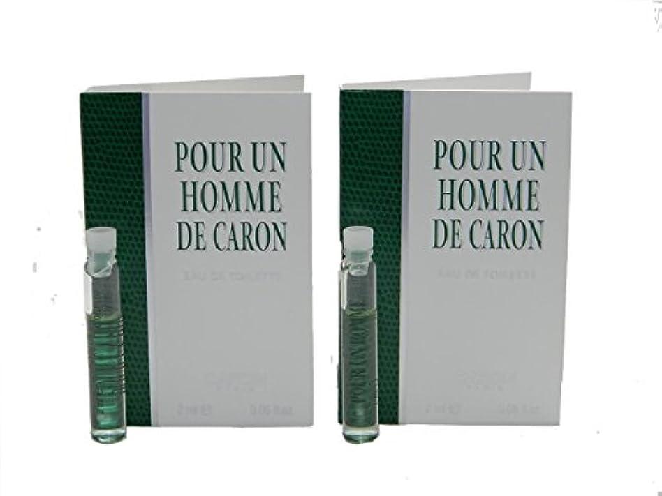 ヒステリック浴室封筒Pour Un Homme De Caron EDT Vial Sample [Lot of 2](プール アン オム ド キャロン オードトワレ)2x2ml [並行輸入品]