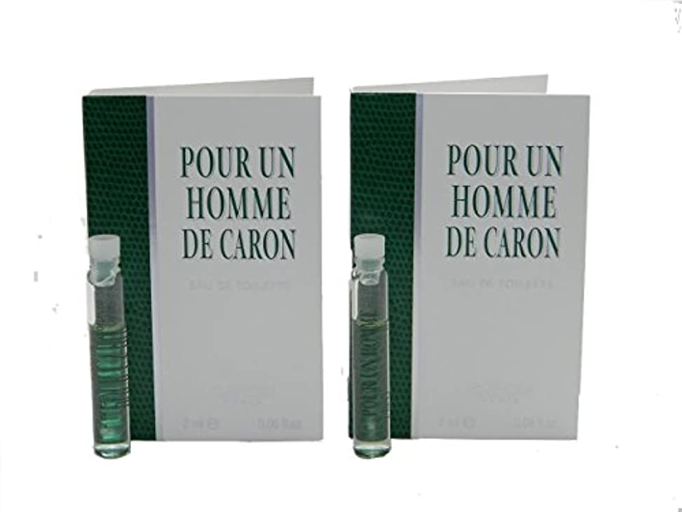 リークカトリック教徒デコレーションPour Un Homme De Caron EDT Vial Sample [Lot of 2](プール アン オム ド キャロン オードトワレ)2x2ml [並行輸入品]