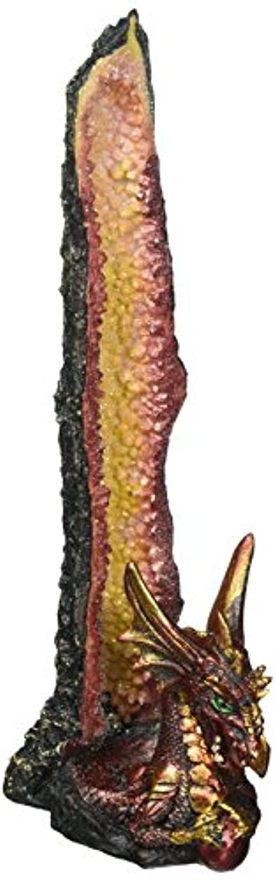 床を掃除する経過蜜Dragon Incense Holder, Poly Resin Incense Burner Stick Holder - Orange Statue