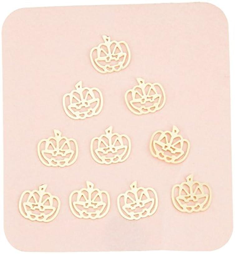 広範囲誕生日リトルプリティー ネイルアートパーツ パンプキン2 ゴールド 10個
