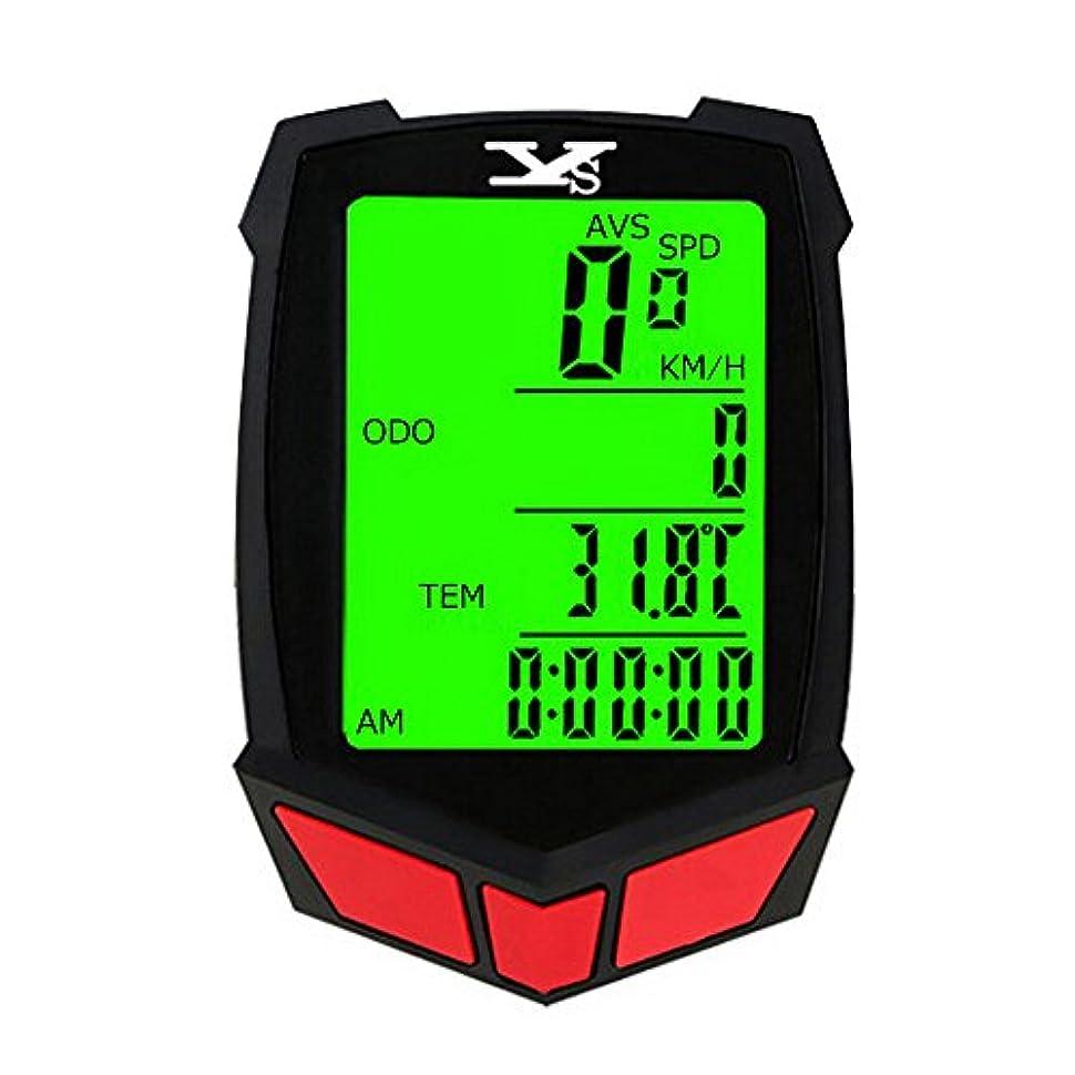 服温度計主にサイクルコンピューター 自転車コンピューター サイクルメーター ワイヤレス 防水 多機能 簡単取付 バックライト 走行距離計 走行時間計