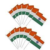 【ノーブランド品】インド国旗  ミニ 国旗 手旗 12枚