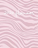 2020 Planner: Weekly Basic Large Planner : 52 Week Agenda : Extra Dot Grid Pages: Paperback Cover : Zebra Pattern