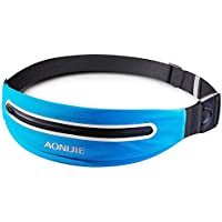 AONIJIE Running Belt Pouch Ultra Light Waist Pack for Mobile Phone Holder - Refelctive and Waterproof for Men Women Running Marathon Workout Cycling