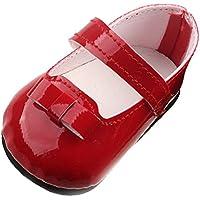 monkeyjack赤ストラップ靴フラットスニーカー生まれの43 cm / 17インチZapfベビー人形Clothes