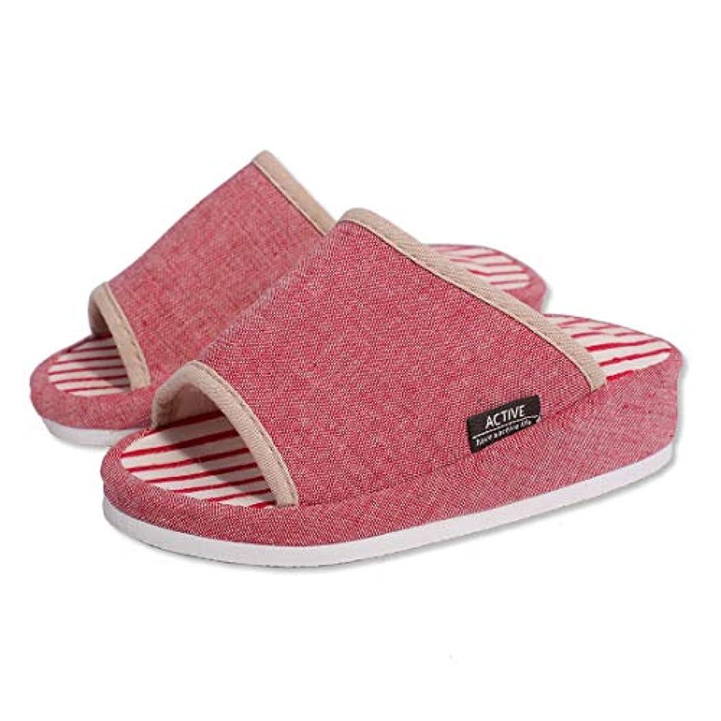 Echanew 健康 ダイエットスリッパ レディース かわいい 美脚 足つぼ刺激 サンダル 来客用 掃除 家事 ルームシューズ 室内履き 女性用 J1 (ピンク)