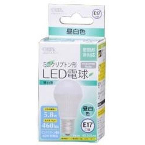 ミニクリプトン形LED電球 E17 5.8W 昼白色相当 LDA6N-H-E17 5