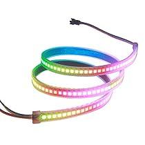 ALITOVE WS2812B LEDテープ1m 144連 NeoPixel RGB TAPE LED 5050 SMD LEDテープライトピクセル 防水 黒いベース 5V DC