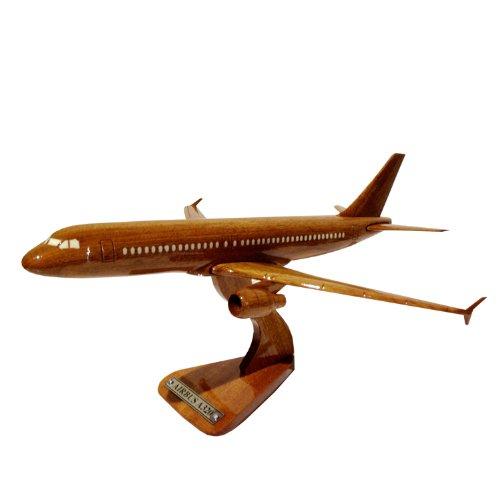MocPro木製エアプレーンモデル ハンドメイド木製飛行機模型 エアバス320