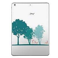 iPad mini4 スキンシール apple アップル アイパッド ミニ A1538 A1550 タブレット tablet シール ステッカー ケース 保護シール 背面 人気 単品 おしゃれ 木 人 飛行機 013623