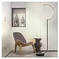 My-JUAN.97 - フロアスタンド・ランプ フロアランプ - リビングルームシンプルポストモダン北欧Led寝室垂直ベッドサイドランプネット赤クリエイティブアイランプ (Color : Black, Size : Three-tone light)