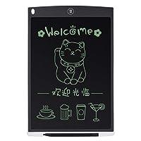 超薄型12インチLCDデジタルライティングタブレットドローイングボードスケッチパッド電子グラフィックボード、マウスパッドおよびルーラー付き (Panda) (色:シルバー)