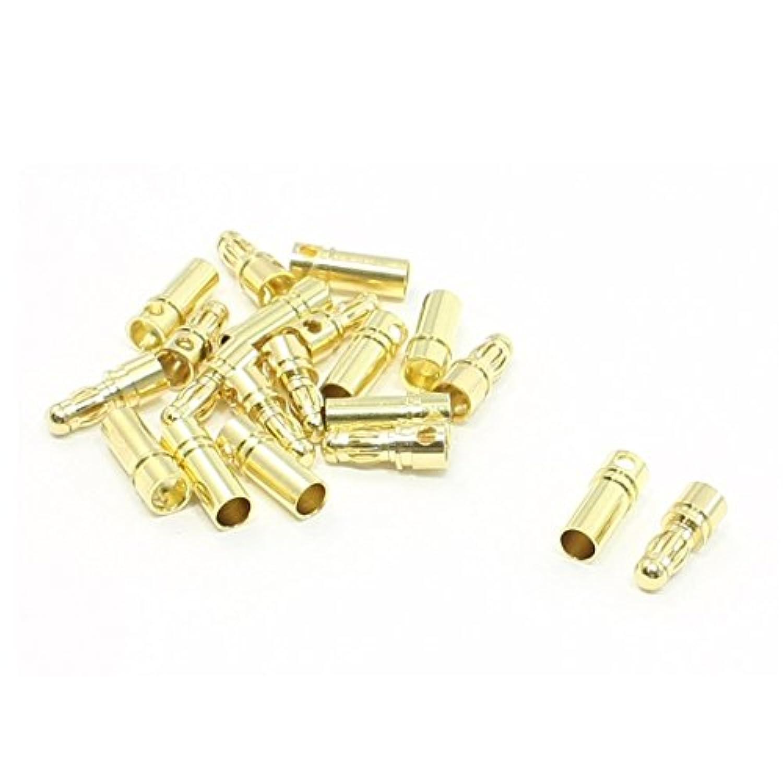 バナナブレットコネクター SODIAL R 10ペアxゴールドトーン 金属バナナブレットプラグ オスメスコネクター 3.5mm