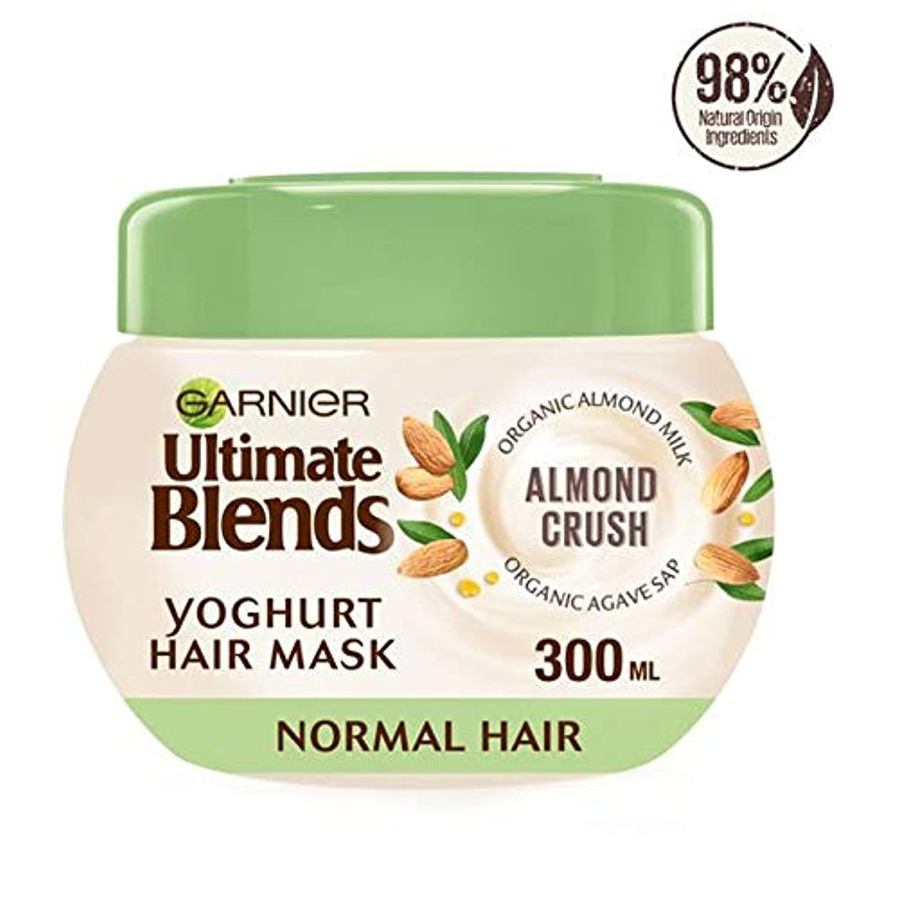 我慢する動機付ける集中[Ultimate Blends] ガルニエ究極はアーモンドミルクマスクノーマルヘア300ミリリットルをブレンド - Garnier Ultimate Blends Almond Milk Mask Normal Hair...