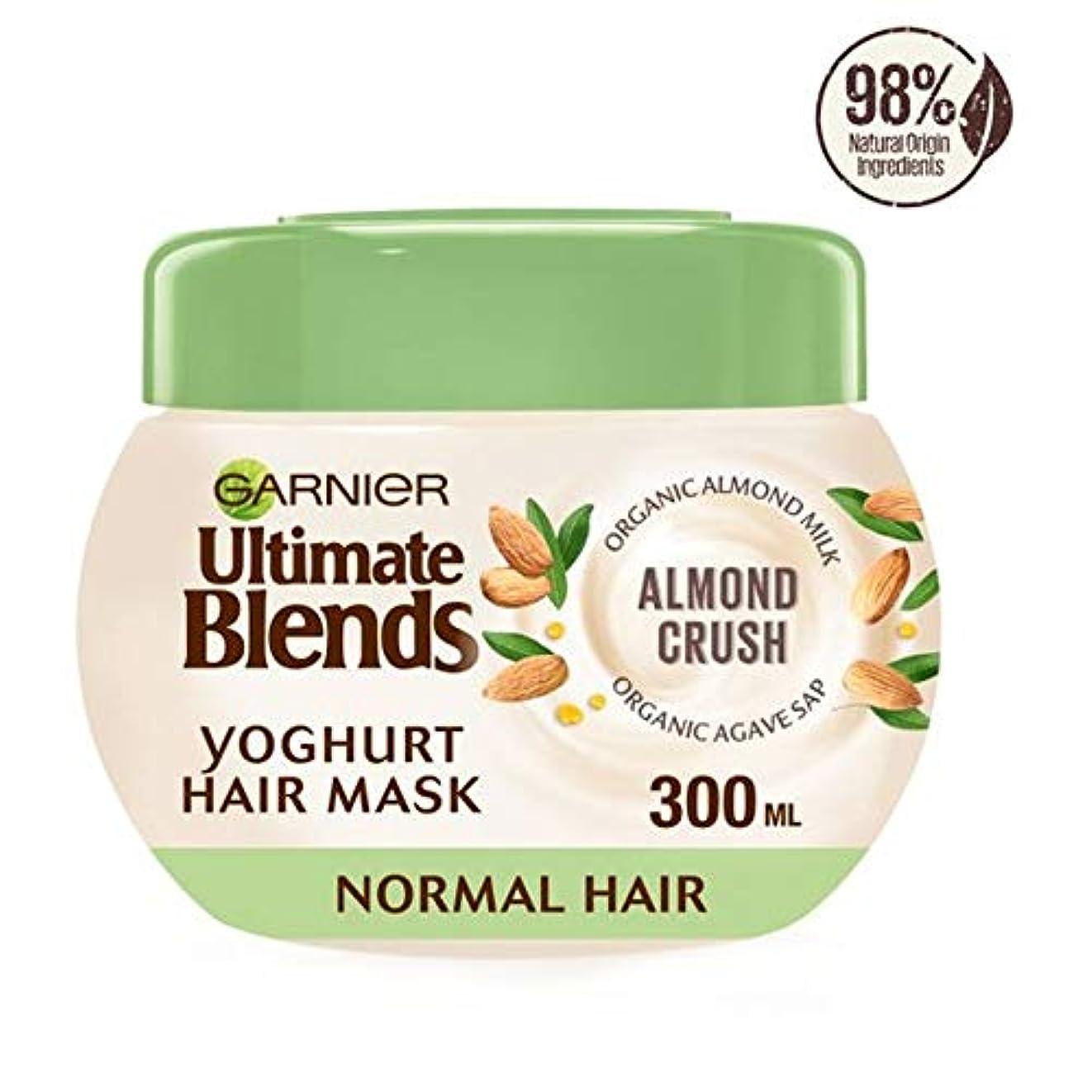 酸素娯楽み[Ultimate Blends] ガルニエ究極はアーモンドミルクマスクノーマルヘア300ミリリットルをブレンド - Garnier Ultimate Blends Almond Milk Mask Normal Hair...